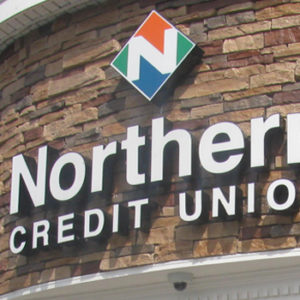 Northern Credit Union logo on building