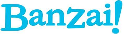 Banzai! logo - light blue