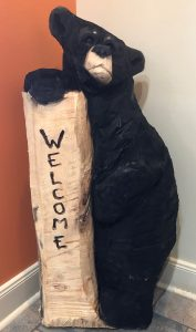 member appreciation day giveaway 2-foot wooden bear carving