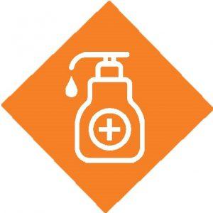 reopening - hand sanitizer icon