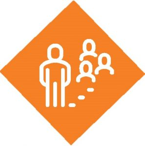 reopening - social distance icon