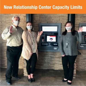 Capacity Limit Updates at Northern Credit Union Relationship Centers